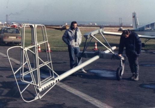 Skyboy prototype designers Zajíc and Štěrba in Kolín