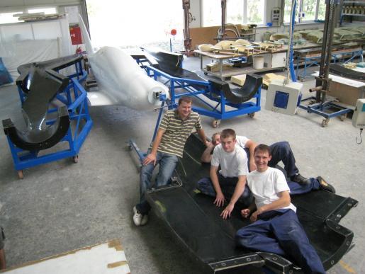 fuselage negative molds finished - prototype team