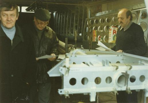 Fuselage skelleton in Habarta workshop