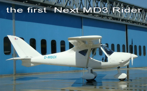 first MD3 Rider from next italian production Next-Aircraft at Voghera