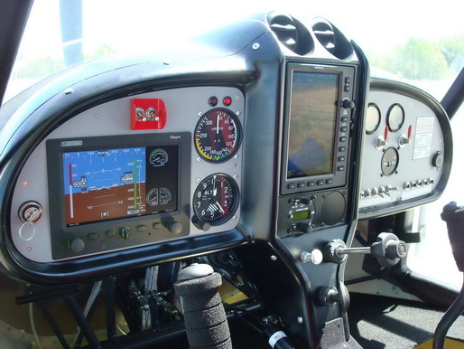 Next-Aircraft MD3 instrument panel includes TL integra EFIS/EMS and GPS Garmin
